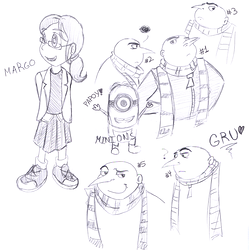 gru margo minion sketches